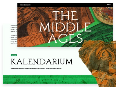 GDA — Middle Ages middle ages daubenton typography webflow texture