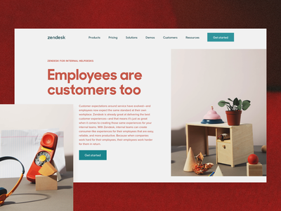 Zendesk for Internal Help Centers shapes b2b is beautiful zendesk art direction web design