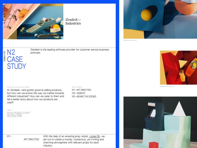 Zendesk Industries Case Study portfolio layout zendesk typography web design