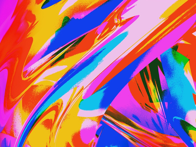 neon indigo texture study