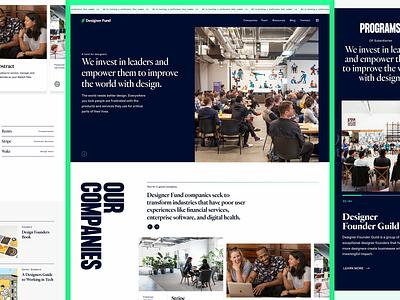 Designer Fund — Homepage branding web design