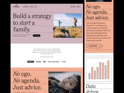Grove Financial Website website design financial layout typography website