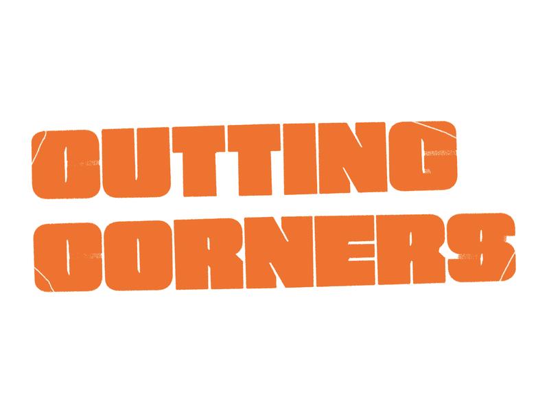 cutting corners logo mark typography