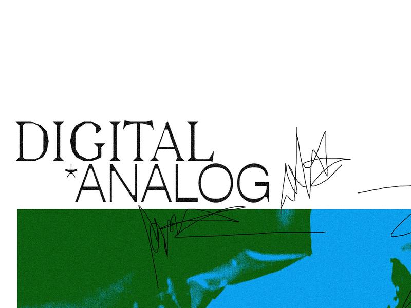 digital *analog typography art texture typography poster typography
