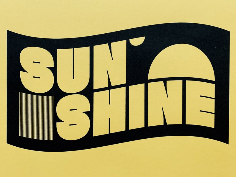 sunshine print print typography