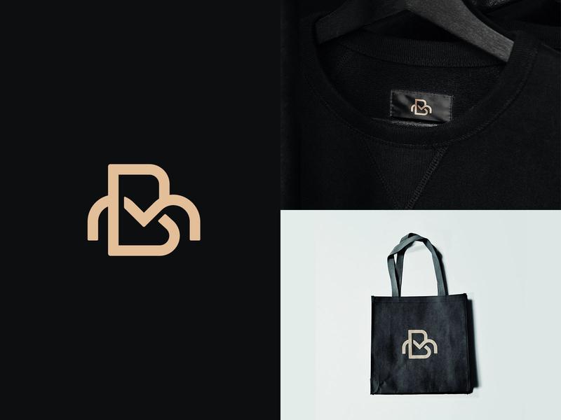 BM Monogram Logo letter logo typographic logo mb monogram clothing brand logo fashion logo bm monogram