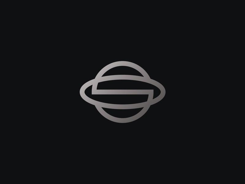 Saturn + Letter S typographic logo logoground stock logos logo for sale graphic designer brand designer logo maker logo designer space planet logo saturn logo letter s logo