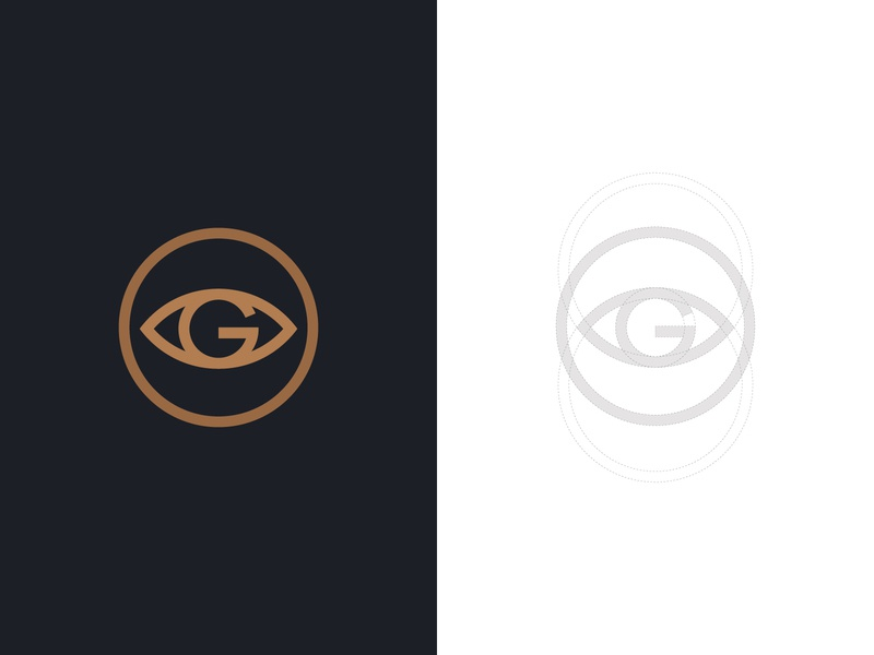 G-EYE Logo monogram logo typographic logo stock logos logoground logo for sale graphic designer brand designer logo maker logo designer letter g logo eye logo eyeglasses