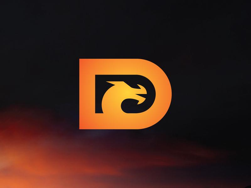 Dragon Logo modern logo letter logo logoground stock logos logo for sale graphic designer brand designer logo maker logo designer letter d logo dragon dragon logo