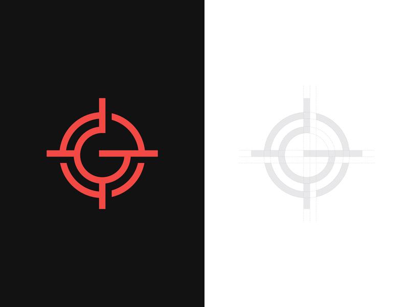 G + Aim Logo gun logo hunter hunter logo monogram logo typography typographic logo graphic designer logo maker logoground logo for sale brand designer logo designer