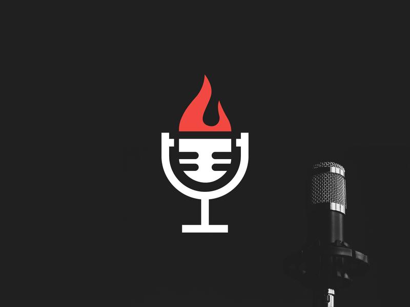 Hot Recording Studio Logo dj logo music logo music podcast podcast logo recording studio recorder studio logoground stock logos logo for sale graphic designer brand designer logo maker logo designer