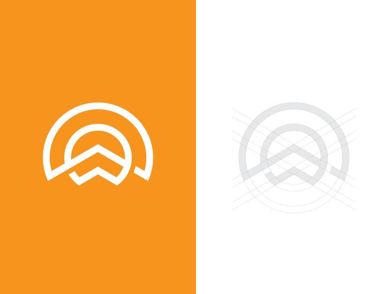 Sun and Mountain logoground stock logos logo for sale graphic designer brand designer logo maker logo designer nature logo mountain logo sun logo