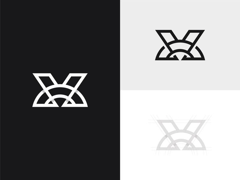VX Monogram typography typographic logo letter logo logoground stock logos logo for sale graphic designer brand designer logo maker logo designer