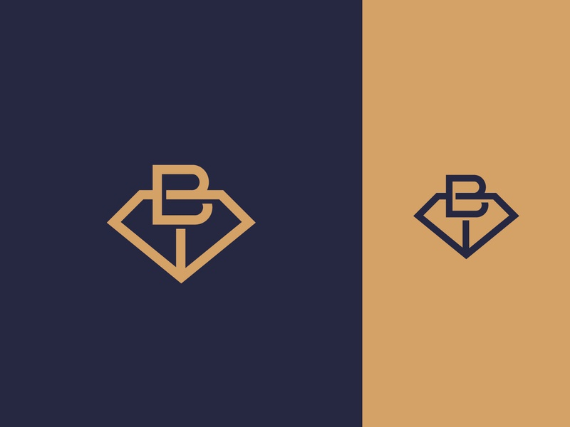 B and Diamond monogram logo letter logo logo for sale logoground graphic designer brand designer logo maker logo designer brilliant jewelry logo diamond logo diamond