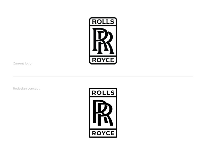 Rolls Royce Redesign monogram logo typography letter logo brand designer logo designer graphic designer typographic logo monogram logo redesign logoground logo maker rolls royce redesign