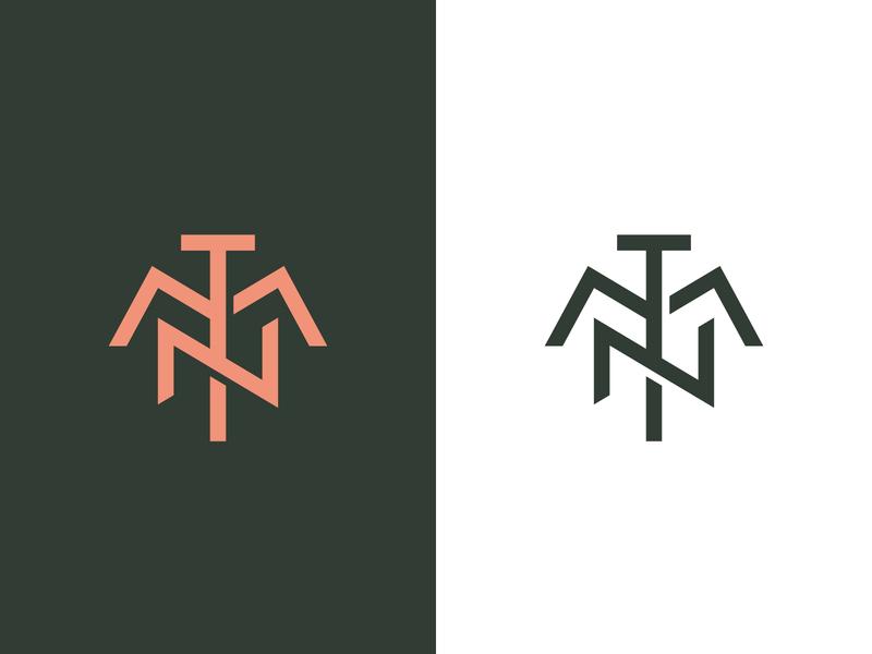 TMN Monogram Logo modern logo letter logo logoground stock logos logo for sale graphic designer brand designer logo maker logo designer logo for clothing brand fashion brand tmn monogram