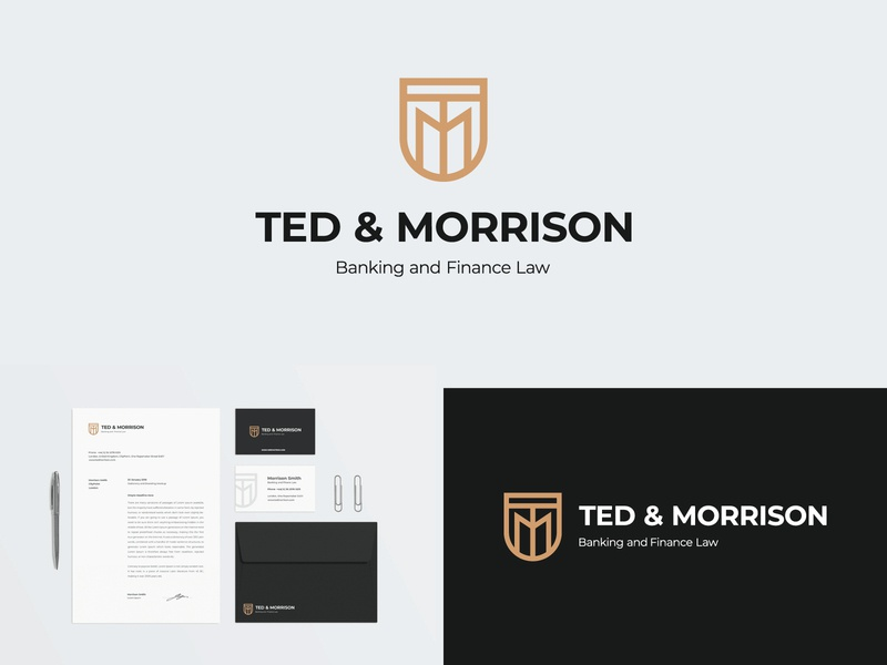 TM Monogram typography typographic logo letter logo logo for sale graphic designer brand designer logo maker logo designer shield logo tm monogram advocasy logo for legal serive logo for law firm