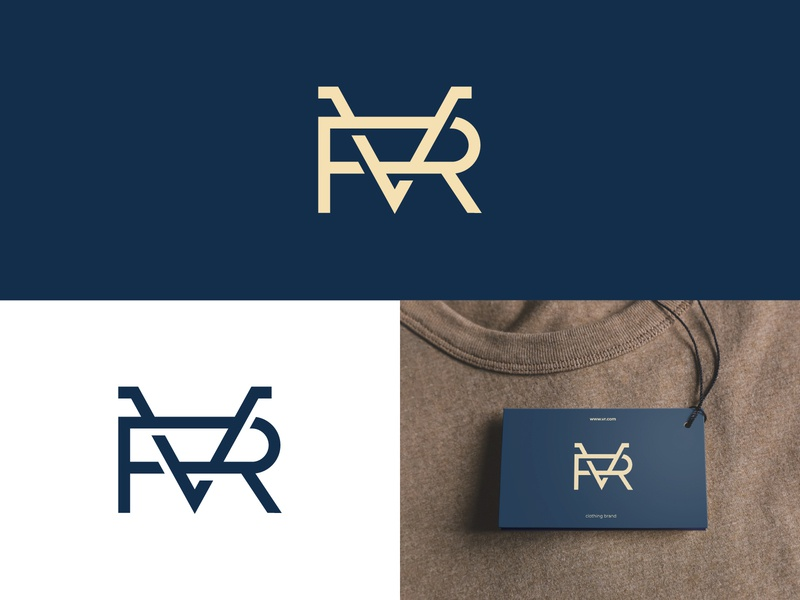 VR Monogram Logo typographic logo letter logo logoground stock logos logo for sale graphic designer brand designer logo maker logo designer clothing brand logo fashion logo