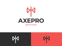 AxePro Logo letter logo logoground stock logos logo for sale graphic designer brand designer logo maker logo designer axe logo game development studio game studio game developer