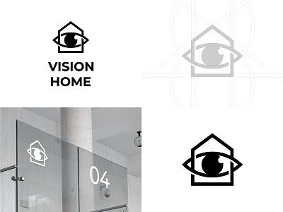 Home Vision Logo typographic logo letter logo logoground stock logos logo for sale brand designer logo maker graphic designer camera logo home logo logo designer