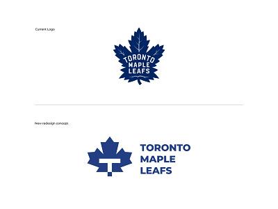 Toronto Maple Leafs Logo Redesign logo redesign maple leaf toronto maple leaf graphic designer brand designer logo maker logo designer
