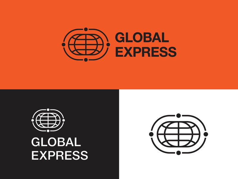 Global Express Logo globe logo shipping company logoground stock logos logo for sale graphic designer brand designer logo maker logo designer