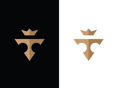 T Lettermark letter logo logoground stock logos logo for sale graphic designer brand designer logo maker logo designer golden logo crown logo royal logo letter v logo v lettermark