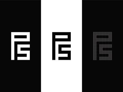 P&S Monogram Logo typographic logo letter logo graphic designer brand designer logo designer logo maker minimalistic logo simple logo monochrome logo clothing brand logo fashion logo ps monogram