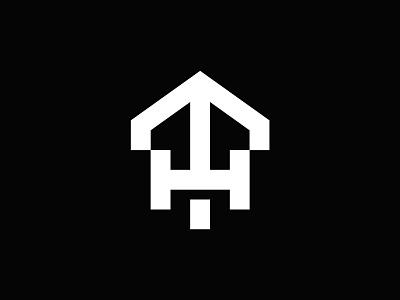TH Monogram Logo minimalistic clean arrow construction building real estate house home monogram logo stock logos logo for sale graphic designer brand designer logo maker logo designer