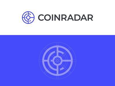 Coinradar Logo app icon app logo tech logo logo for sale graphic designer brand designer logo maker logo designer target logo radar logo cryptocurrency coin logo crypto logo