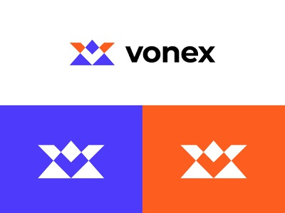 Vonex Logo tech logo digital logo letter logo logoground stock logos logo for sale graphic designer brand designer logo maker logo designer v letter v hill logo mountain logo