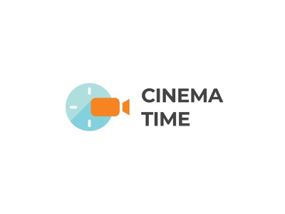 Cinema Time Logo logoground stock logos logo for sale graphic designer brand designer logo maker logo designer app icon video camera logo cinema logo