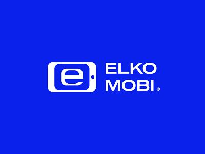 ElkoMobi Logo logo for sale graphic designer brand designer logo maker logo designer e letter e cell phone service cell phone store communications smartphone smartphone logo mobile cell phone cell phone logo