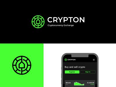 Crypton Logo Design stock logos logo for sale graphic designer brand designer logo maker logo designer coin logo coin exchange cryptocurrency crypto logo crypto