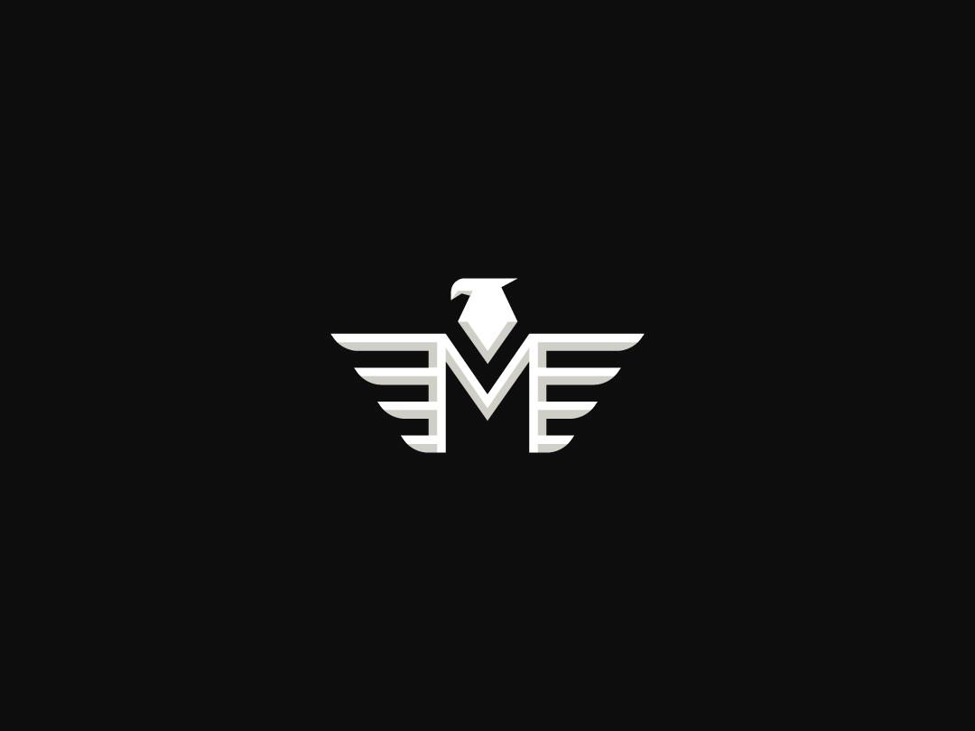 Logo for sale - Eagle Letter M letter m logo bird logo animal letter logo typographic logo logoground stock logos logo for sale graphic designer brand designer logo maker logo designer