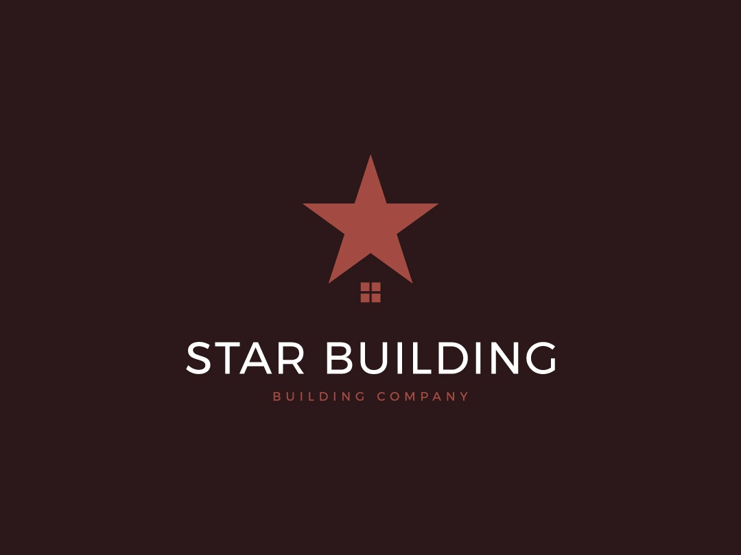 Star Building window logo developing building logo star building star logo stock logos logo for sale graphic designer brand designer logo maker logo designer