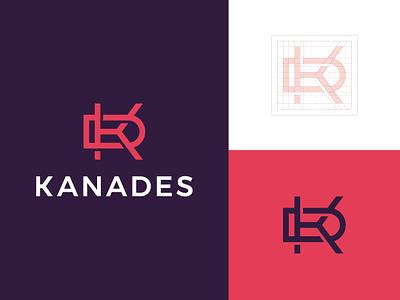 KD Monogram Logo simple logo minimalistic logo kd monogram kd kanades modern logo typography typographic logo letter logo graphic designer brand designer logo maker logo designer