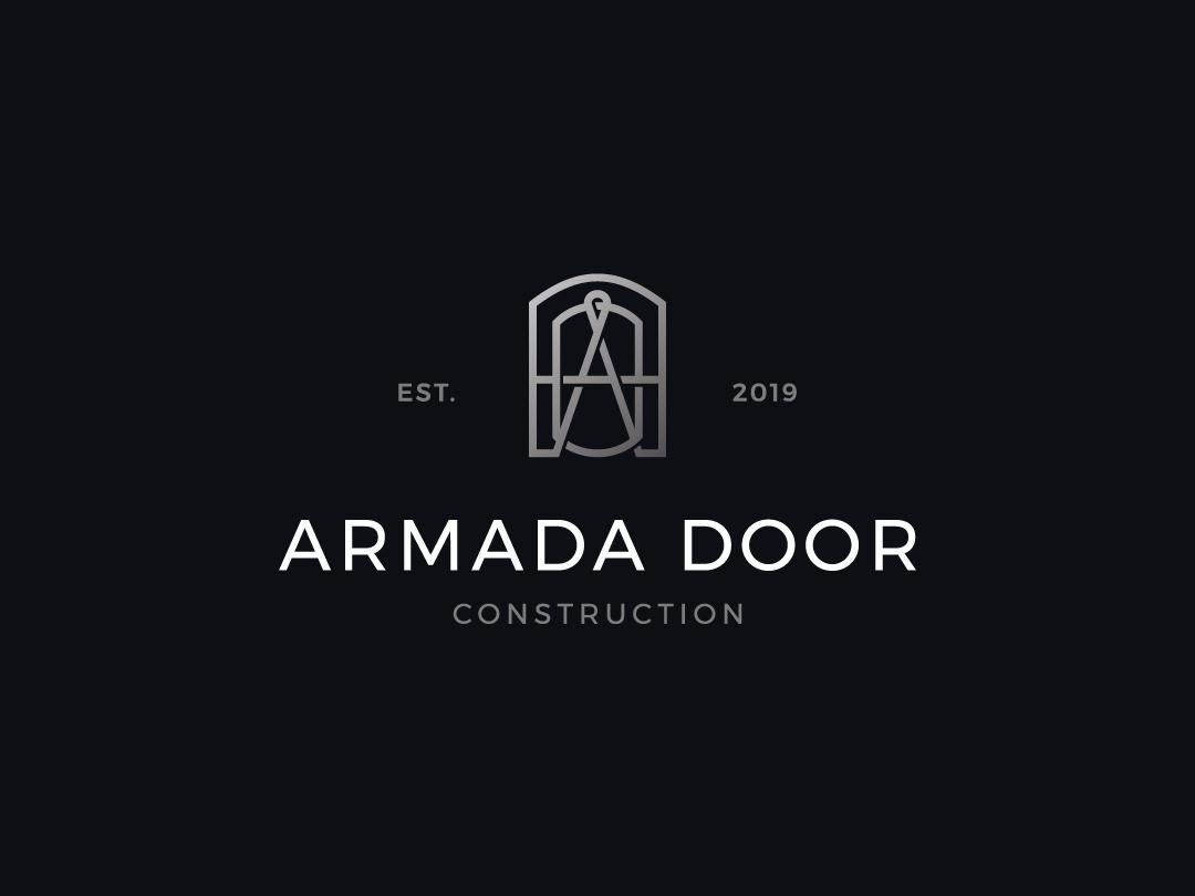 armada door  construction letter A logo