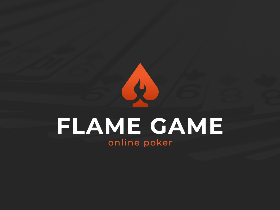 Flame Game Logo poker logo flame logo online poker logoground stock logos logo for sale graphic designer brand designer logo maker logo designer