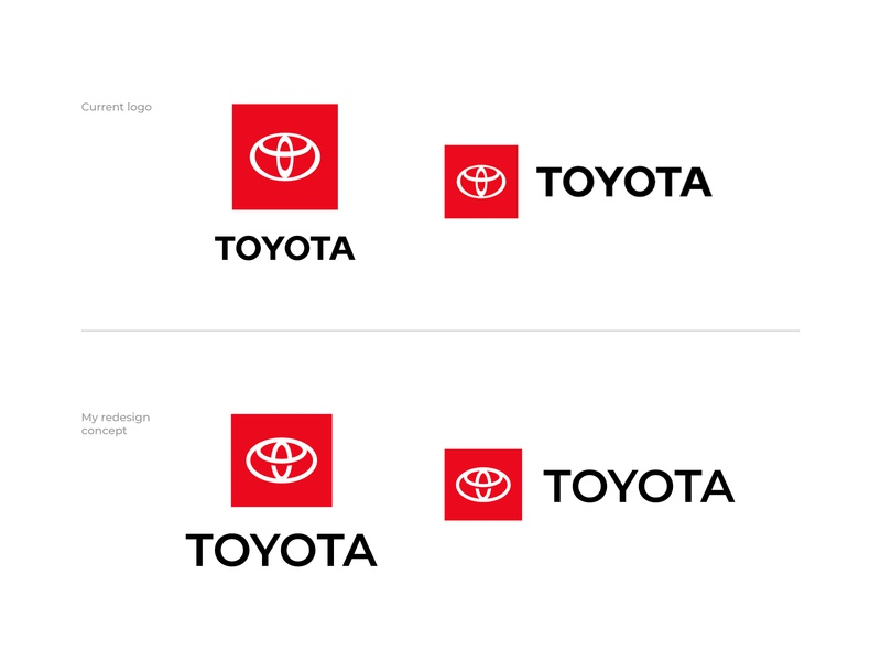 Toyota Logo Redesign toyota logo toyota redesign