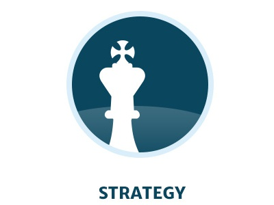 Strategy icon design blue strategy