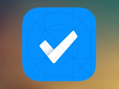 Ta-done blue icon app to-do first-app