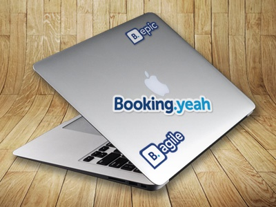 Booking Stickers stickers branding swag conferences booking.com