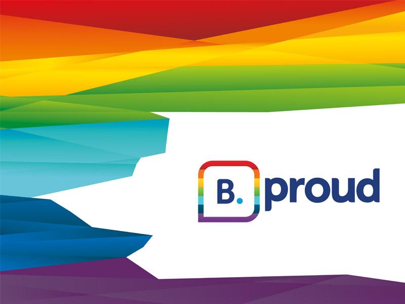B.Proud equality diversity rainbow booking pride