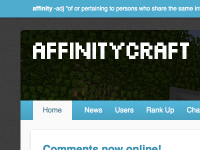Affinity Craft Header