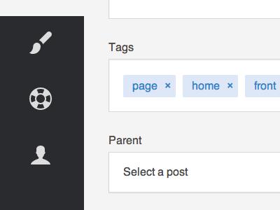 Blogging interface