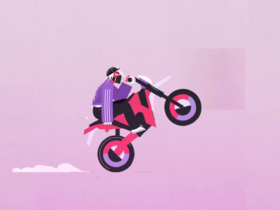 Wheelie time gif motion graphics biker gang riding ride bike ride abstractdesign motiondesign animation 2danimation character character animation characterdesign streetwear bikelife biker motorbikes motorbike wheelie