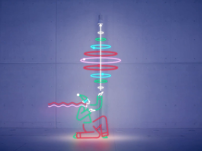 Snfcc Xmas 2018 - Christmas Lights oddbleat snfcc reindeer christmas animations gif flat design animation after effects animation magician vector motion design 2d animation motion graphics