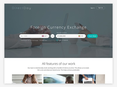 Directday Website Design