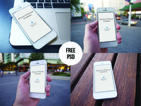 Free iPhone Mockups - PSD